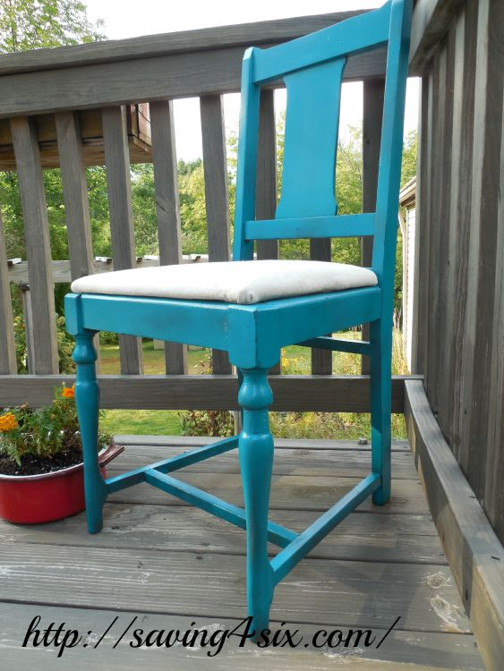 Spray Painted Chair 3