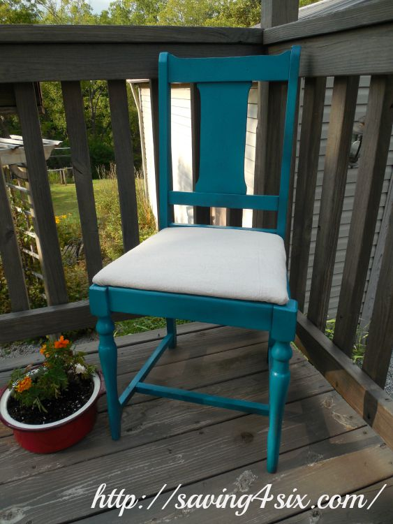 Spray Painted Chair 4