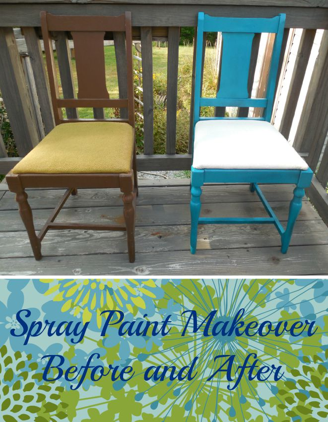 Spray Painted Chair 5