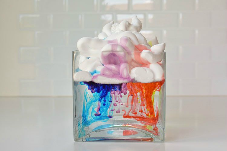 shaving cream rain cloud
