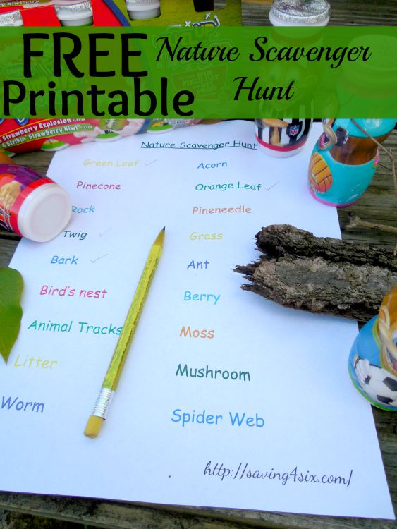 Nature Scavenger Hunt Printable 2