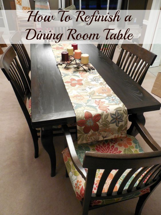 Attrayant Refinish Dining Room Table Hero