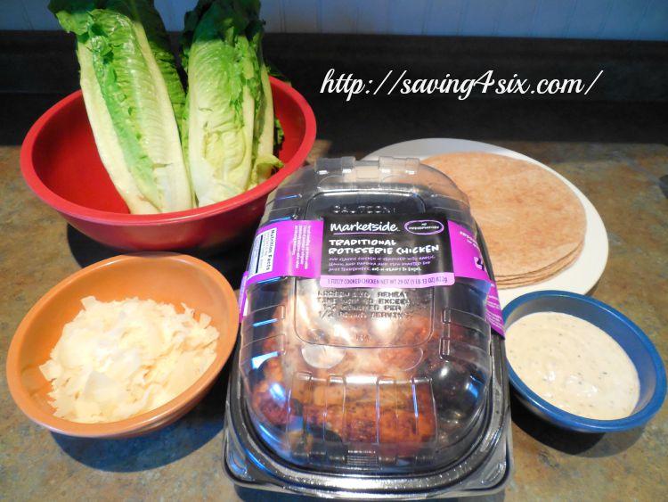 Rotisserie Chicken Caesar Salad Wrap 2