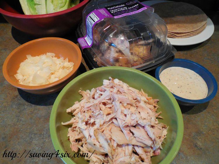 Rotisserie Chicken Caesar Salad Wrap 3