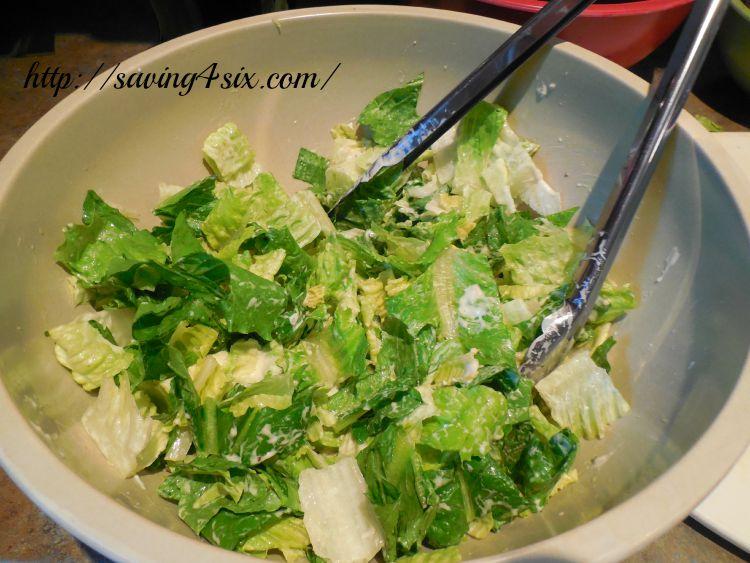 Rotisserie Chicken Caesar Salad Wrap 5
