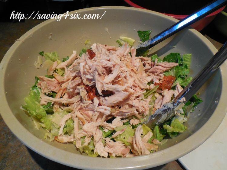 Rotisserie Chicken Caesar Salad Wrap 7