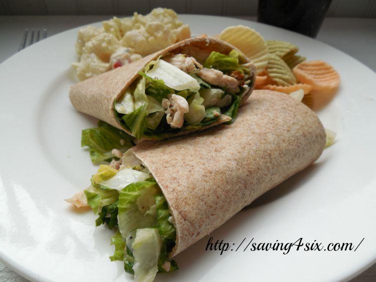 Rotisserie Chicken Caesar Salad Wrap 8