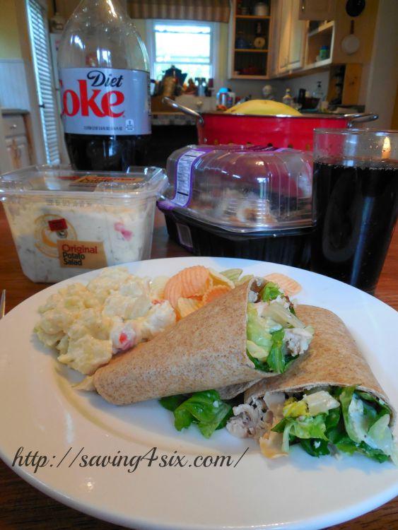 Rotisserie Chicken Caesar Salad Wrap 9