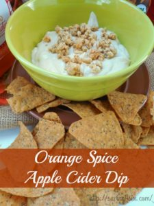 Orange Spice Apple Cider Dip