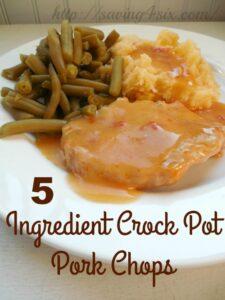 5 Ingredient Simple Crock Pot Pork Chops