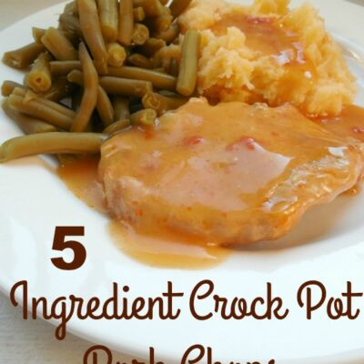 5 Ingredient Simple Crock Pot Pork Chops