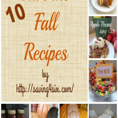 10 Favorite Fall Recipes