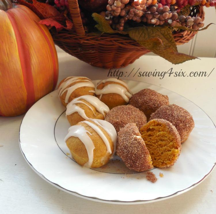 Pumpkin donut holes 5