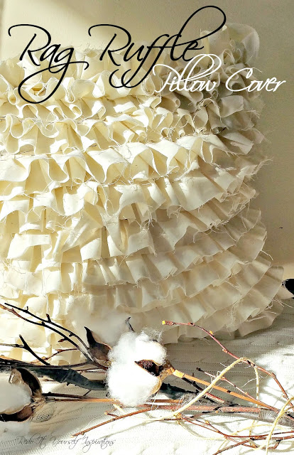 Rag Ruffle Pillow Cover by Redo It