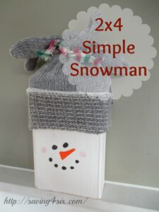 2×4 Simple Snowman