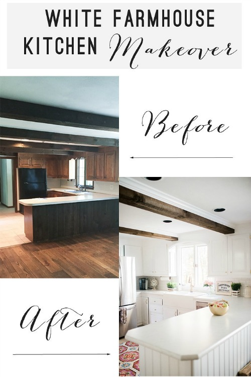 White-Farmhouse-Kitchen-Makeover-with-gold-accents-before-and-after-700x1050