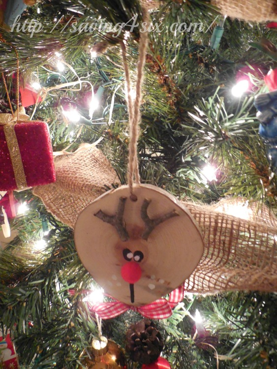 Wood Slice Reindeer Ornament 7