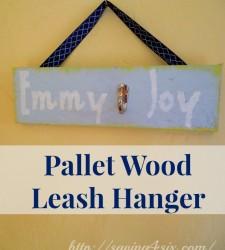 Pallet Wood Leash Hanger