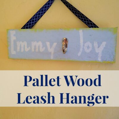 Pallet Wood Leash Hanger