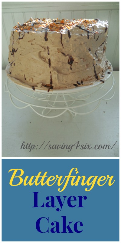 Butterfinger Angel food layer cake