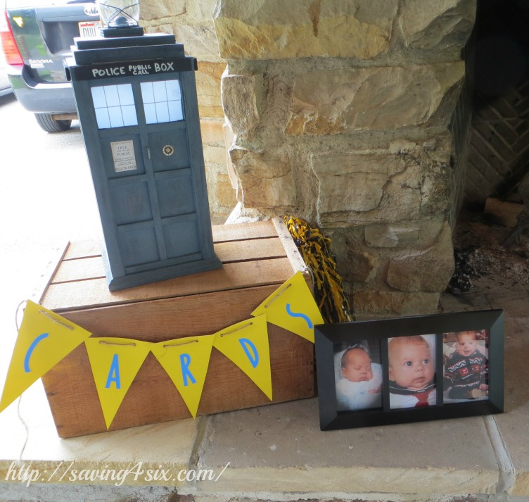 Graduation card box dr. who