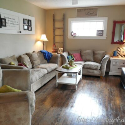 Updating the Living Room With Rustic Charm