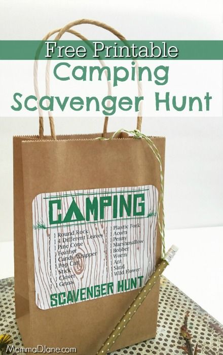 Free-Printable-Camping-Scavenger-Hunt