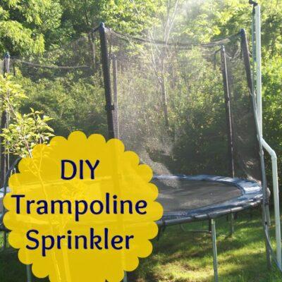 DIY Trampoline Sprinkler