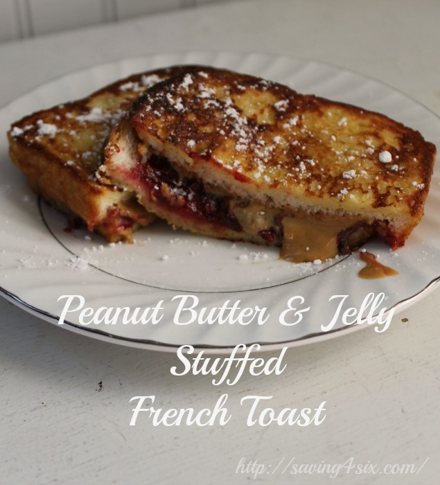 Peanut Butter & Jelly Stuffed French Toast 1