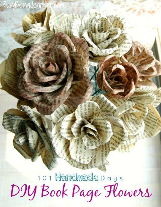 diy-book-page-flowers-busybeingjennifer-com-101handmadedays