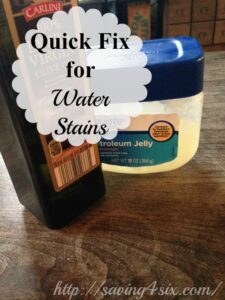 Quick Fix for Water Stains on Wood