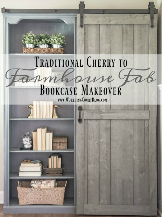 traditional-cherry-to-farmhouse-fab-bookcase-makeover