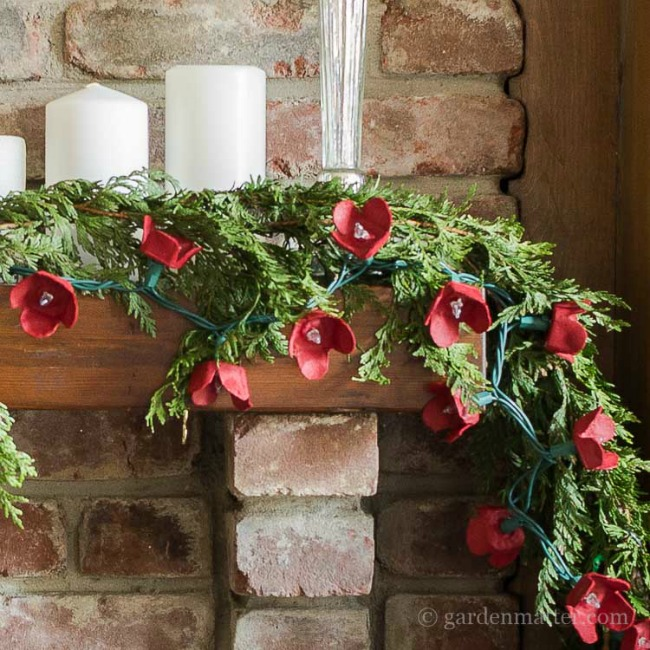 cardboard-egg-carton-light-garland-on-mantel