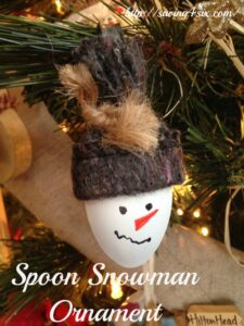 Snowmen Spoon Ornaments