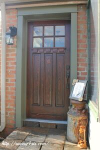 My New Craftsman Front Door – The Reveal