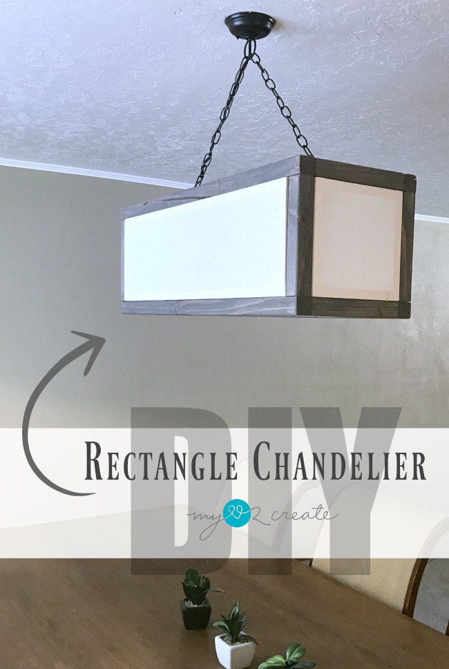 DIY Rectangle Chandelier, MyLove2Create