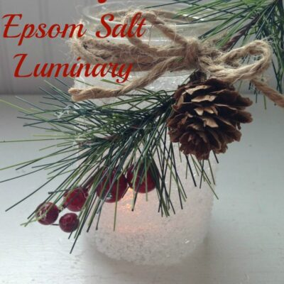 Mason Jar Epsom Salt Luminaries