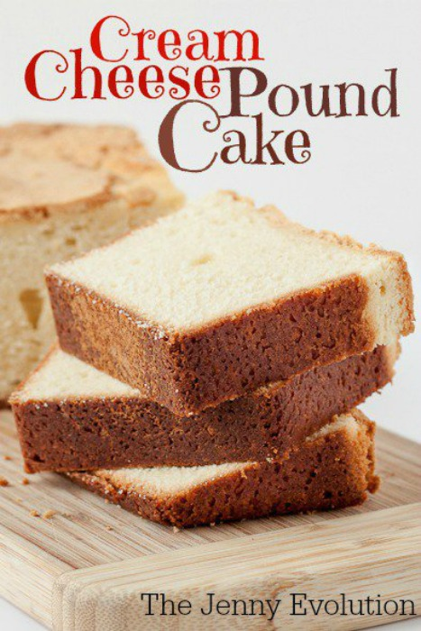 Cream Cheese Pound Cake by the Jenny Evolution