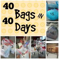 My 40 Bags in 40 Days Progress